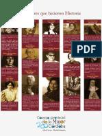 Mujeres Que Hicieron Historia. Consejo Provincial de La Mujer