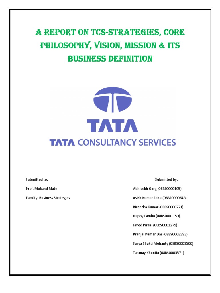 strategic management tata consultancy services View rekha rajendran's profile on linkedin as a part of the strategic consulting program application security consultant at tata consultancy services.