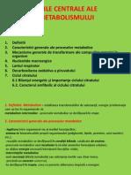 Curs Nr 4 Caile Centrale Ale Metabolismului