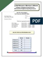 Solution First Major Exam 061 Version 1