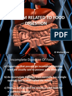 Problem Related to Food Digestion