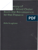The Theory of German Word Order Aldo Scaglione Finereader