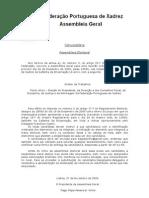 Convocatória da Assembleia Geral Eleitoral da FPX - 2009-12-20