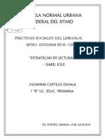 Estrategias de Lecturas- Sole.