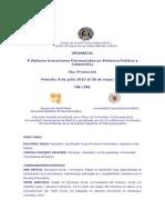 Diplomado Actuaciones Psicosociales en Violencia Politica - Gac 2013 a 2014