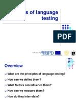 Principles of Language Testing Rita Green