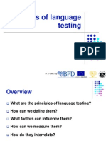 Principles of Language Testing Rita Green