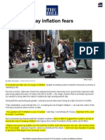 Economists Say Inflation Fears Overblown