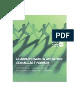 Adolescencia en Argentina Sexualidad y Pobreza