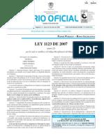 LEY 1123 DE 2007