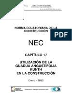 Nec Cap17 Utilizacion de La Guadua Angustifolia Kunth en La Construccion