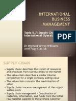Topic 5.7 International Supply Chain