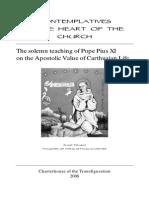 Umbratilem - Pio XI