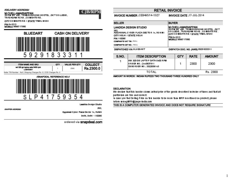 mobile invoice format in word