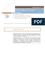 Are Independent Directors Truly Independent ? A study of Corporate Governance