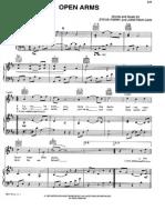 Open Arms Piano Sheet Music