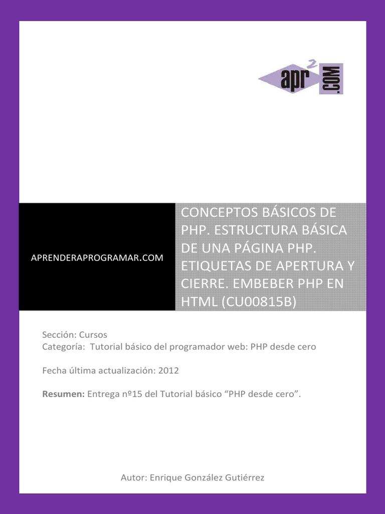 Cu00815b Estructura Basica Pagina Php Etiquetas Apertura