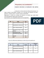"""""""Proyectos y Su Localización"""