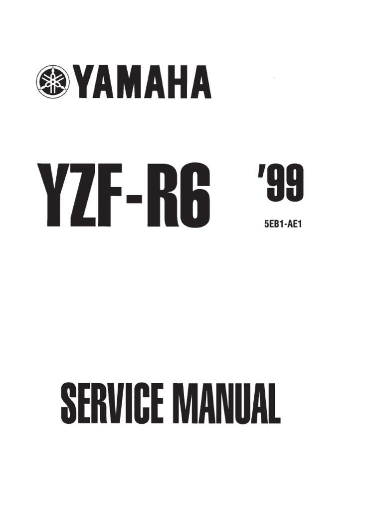 manual service r6 2000 1999 ignition system screw rh scribd com yamaha xvs 125 '00 - service manual yamaha xvs 125 drag star service manual