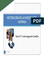 Tema I_La Investigación Científica_2014