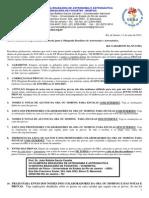 Carta Circular Dos Gabaritos Das Provas Da Xvi Oba 2013
