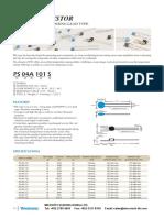 PTC Thermistor Lead Type