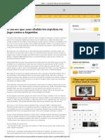 O Dia Em Que João Ubaldo Me Expulsou No Jogo Contra a Argentina-Metro1 - O Portal de Notícias Do Grupo Metrópole