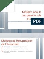 Modelos para la recuperación de información