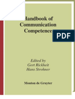 Handbook of Communication