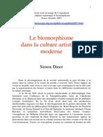 Biomorphisme Dans La Culture Artistique Moderne -Simon Diner @ Nancy