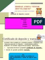 Certificado de Deposito Warrant