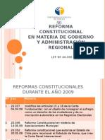Reforma Constitucional en Materia de Gobierno y Admin is Trac Ion Regional
