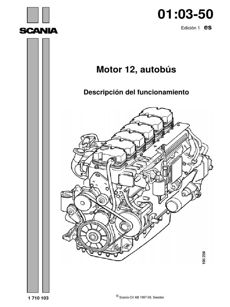 Motor Scania 12 Lt Autobus