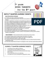 learning targets 4th grade 2nd quarter 1