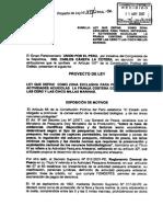 Zona Exclusiva Para La Pesca Artesanal y La Actividad Acuícola Expediente Del Proyecto de Ley Nº 01198