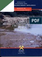 Geolog Cuadrangulo de Puerto Putaya Hahuinto Jacaya Santa Rosa Breu Parantari Breu