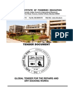 Dry Docking Tender Document - Soft Copy