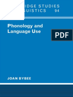 Phonology and Langauge Use