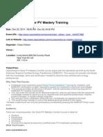 Clean Edison Solar PV Mastery Training
