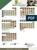Calendário Letivo 2012 1 Pós Greve