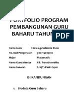 Portfolio Program Pembangunan Guru Baharu Tahun 2014