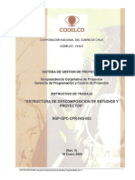 SGP #1321 v1 SGP GPC CPR INS 003 Estructura de Descomposición de Estudios y Proyectos