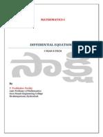 DifferentialEquationsOfFirstOrderUnit-5