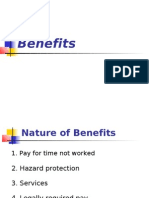 Nature of Benefits