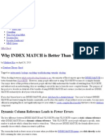 Why Index Match is Better Than Vlookup