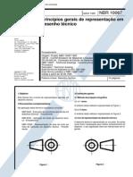 NBR 10067 - Principios Gerais de Representação Em Desenho Técnico
