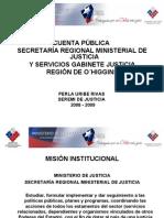 Presentación Cuenta Pública SEREMI JUSTICIA