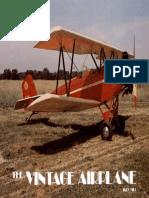 Vintage Airplane - May 1981
