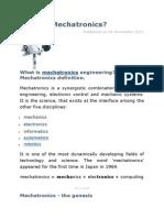 What is Mechatronics ?