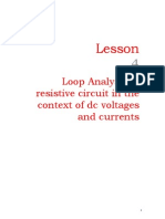 loop analysis of resistive circuit